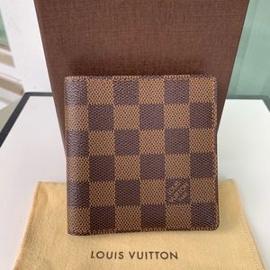 Authentic Louis Vuitton Damier Ebene Men's Wallet